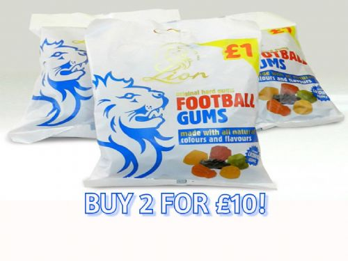 LI03 PRE-PACK LION FOOTBALL GUMS 12x150g(2 FOR £10 )